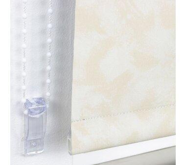 LIEDECO Seitenzugrollo Dekor-Abdunklung 082 x 180 cm  Fb. Wolke beige