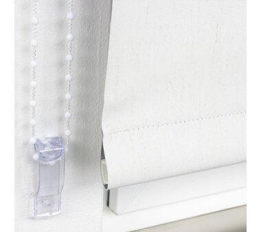 LIEDECO Seitenzugrollo Dekor-Abdunklung 102 x 180 cm  Fb. Leinen silber