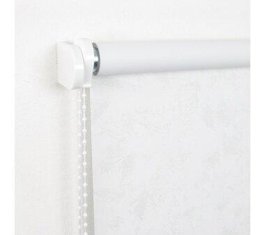 LIEDECO Seitenzugrollo Dekor-Abdunklung 122 x 180 cm  Fb. Wolken weiß