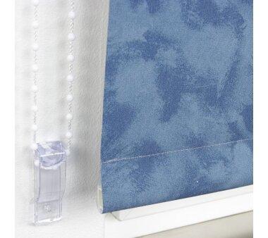 LIEDECO Seitenzugrollo Dekor-Abdunklung 122 x 180 cm  Fb. Wolken blau