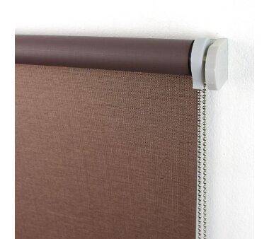 LIEDECO Seitenzugrollo Struktur Verdunklung 062 x 175 cm  Fb. braun