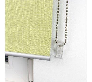 LIEDECO Seitenzugrollo Struktur Verdunklung 082 x 175 cm  Fb. lindgrün