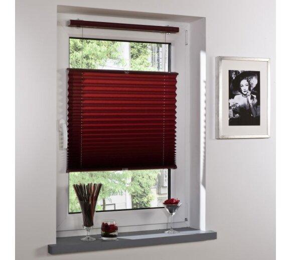 plissee faltstore bordeaux 70x130 cm liedeco. Black Bedroom Furniture Sets. Home Design Ideas