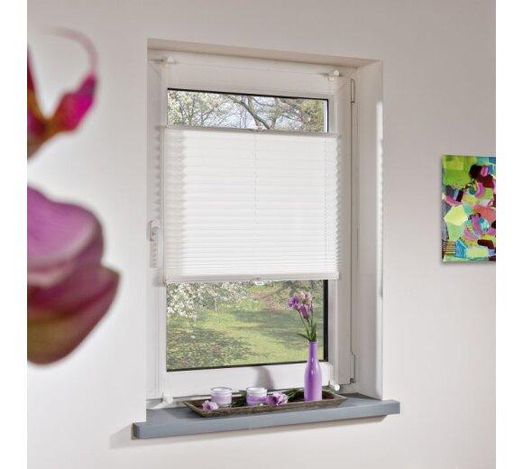 plissee klemmfix plissee wei 80x130 cm liedeco. Black Bedroom Furniture Sets. Home Design Ideas