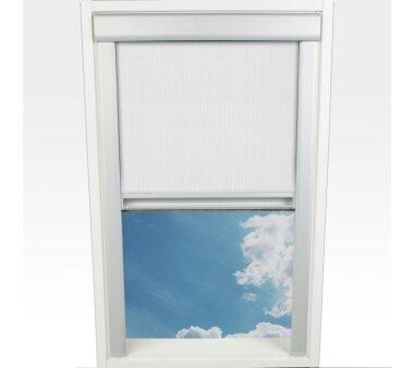 LIEDECO Dachfensterrollo m. seitl. Führungsschiene  61,3 x 116,0 cm Fb. weiß