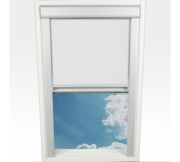 liedeco dachfenster rollo wei 97 3x94 0 cm wohnfuehlidee. Black Bedroom Furniture Sets. Home Design Ideas