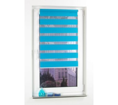 LIEDECO Klemmfix Duo-Rollo mini 060 x 160 cm blau