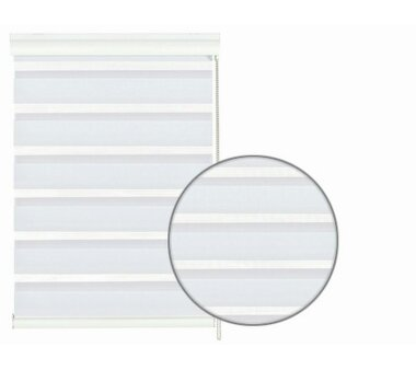 GARDINIA Doppelrollo mit weißer Aluminumkassette 60...