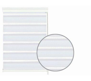 GARDINIA Doppelrollo mit weißer Aluminumkassette 80 x 160 cm weiß