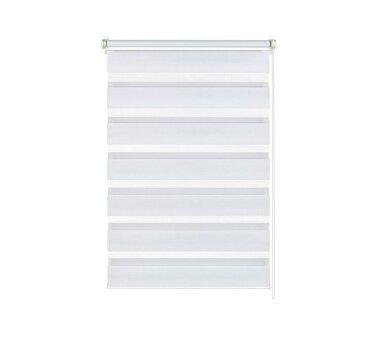 GARDINIA EASYFIX Doppelrollo weiß 90 x 220 cm mit...