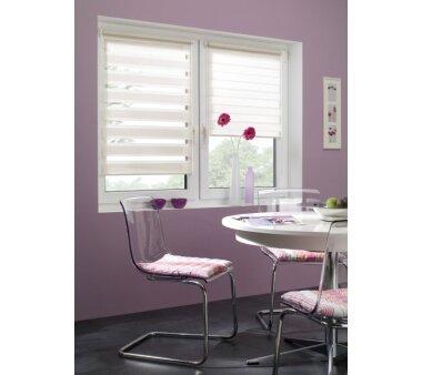 GARDINIA EASYFIX Doppelrollo creme 60 x 150 cm mit einfacher Montage auf dem Fensterflügel