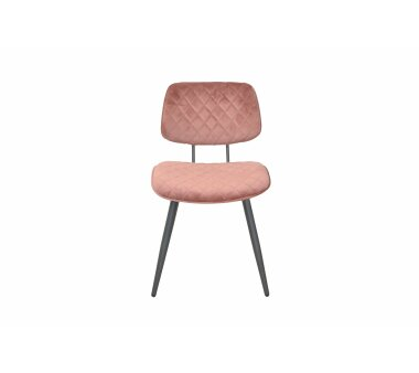 Polsterstuhl, Vierfußstuhl 8639, rosa