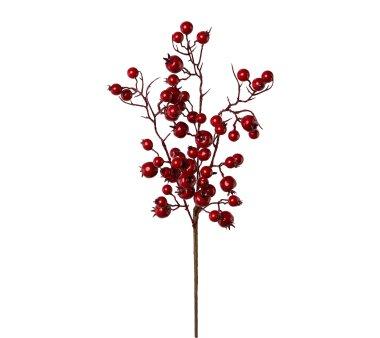 Kunstpflanze Beerenzweig, 5er Set, Farbe rot, Höhe...