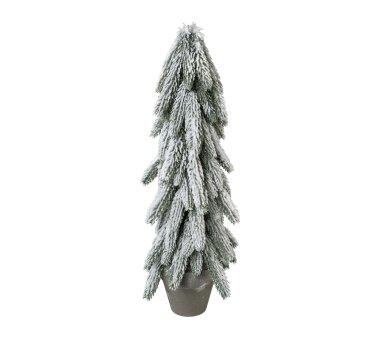 Künstlicher Tannenbaum beschneit, Farbe grün,...