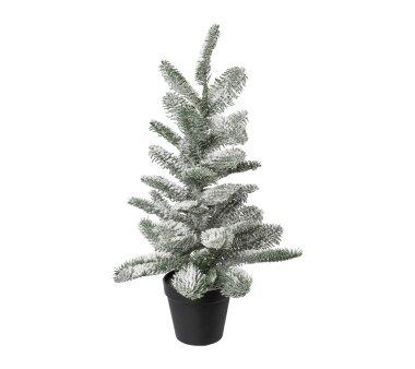 Kunstpflanze Nobilistanne beschneit, Farbe grün,...