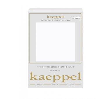 Kaeppel Single Jersey Spannbettlaken mit Elasthan, Fb. weiss