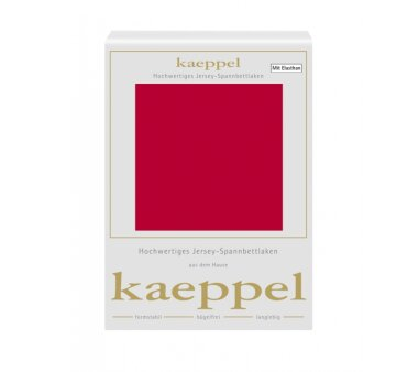 Kaeppel Single Jersey Spannbettlaken mit Elasthan, Fb. rot