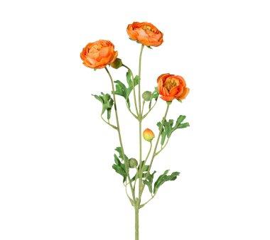 Kunstblume Ranunkelzweig, 4er Set, Farbe orange,...
