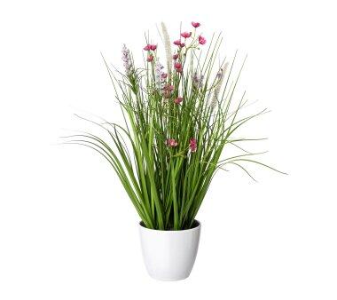 Kunstpflanze Blüten-Grasmix, Farbe rosa, inkl....