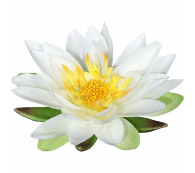 Künstliche Lotusblüte, 4er Set, Farbe creme,...