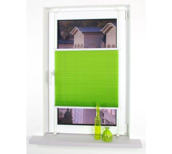 klemmfix plissee green apple 90x150 cm liedeco. Black Bedroom Furniture Sets. Home Design Ideas