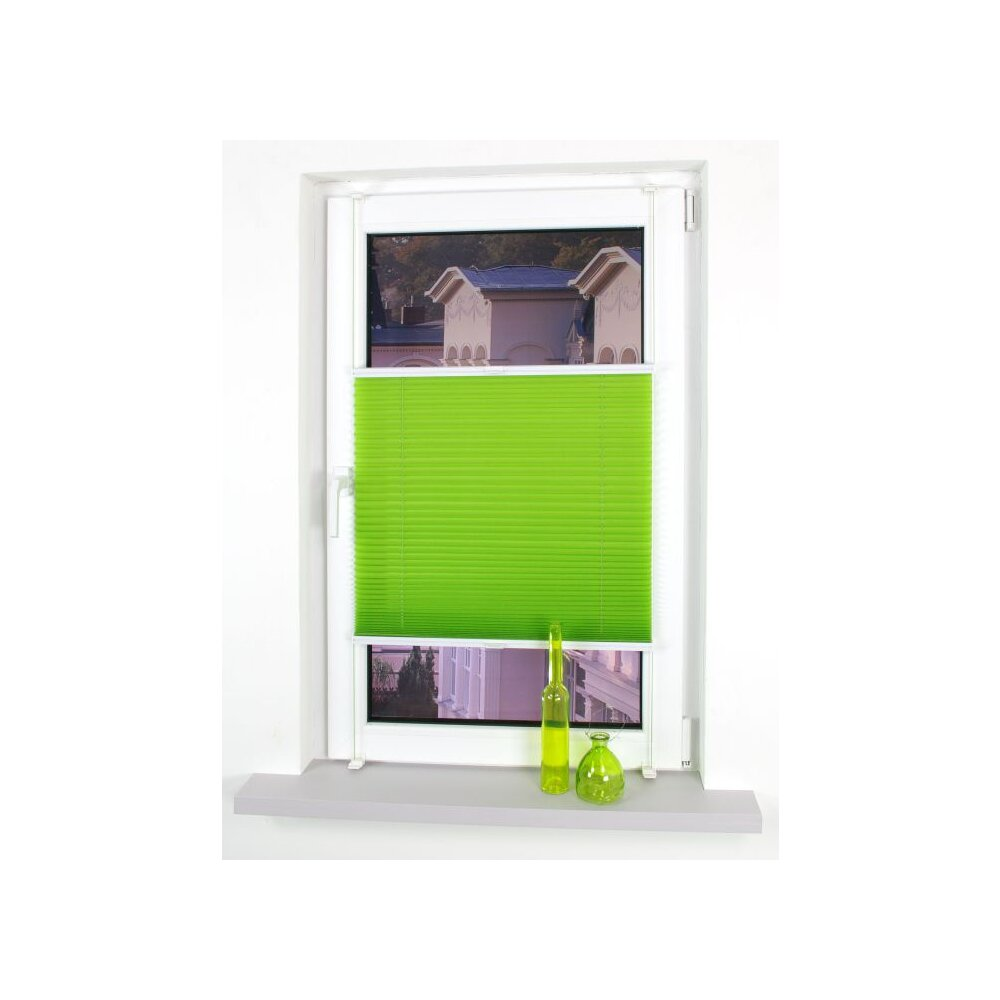 klemmfix plissee green apple 100x150 cm liedeco. Black Bedroom Furniture Sets. Home Design Ideas