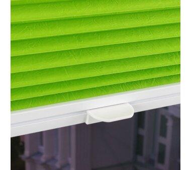 LIEDECO Klemmfix-Plissee verspannt  80 x 220 cm  Fb. green apple