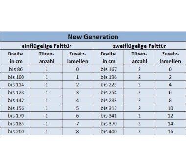 Falttür MARLEY New Generation, 035956, B 86 x H 205 cm, Alufarben, Fenster Karo weiss-satiniert