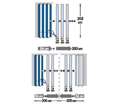 Zusatzlamelle für Falttür President mit Fenster Fb. eschefb. weiss B 14 x H 205 cm