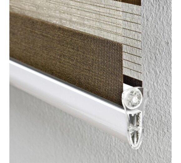 liedeco duo rollo mit blende f r t ren braun 90x220 cm. Black Bedroom Furniture Sets. Home Design Ideas