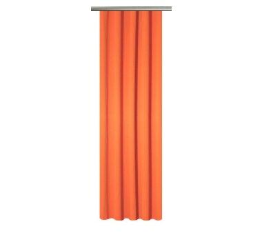 Verdunklungs Schal Blackout mit U-Band uni Fb. orange