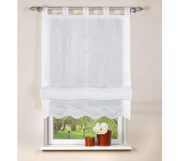 raff rollo batist wei 80x140 cm home fashion. Black Bedroom Furniture Sets. Home Design Ideas