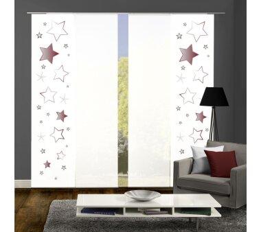 4er-Set Flächenvorhänge STARS blickdicht,...