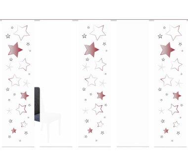 5er-Set Flächenvorhänge STARS blickdicht,...