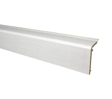 Marley Sockelleiste 5x2m, Esche-Weiß