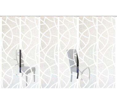6er-Set Flächenvorhang, blickdicht / transparent,...