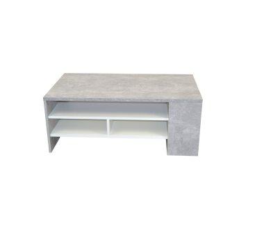 Couchtisch 3070, mit Schubladen und Ablageboden, beton /...