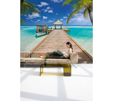 Fototapete KOMAR, BEACH RESORT, 8 Teile, BxH 368 x 254 cm
