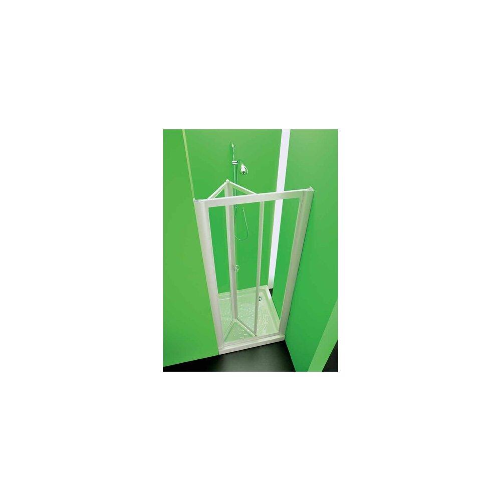nischentr nischendusche duschwand domi acryl glas kunststoff fb weiss - Dusche Aus Glas Oder Kunststoff