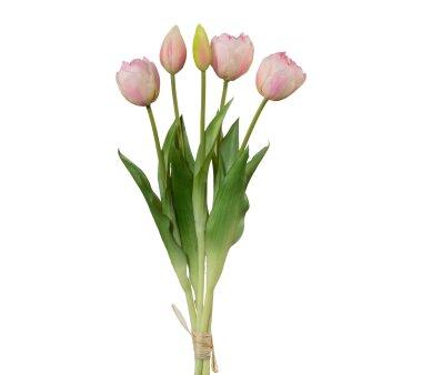 Kunstblume Tulpenbund gefüllt, 2er Set, rosa,...