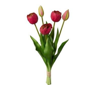 Kunstblume Tulpenbund gefüllt, 2er Set, pink,...
