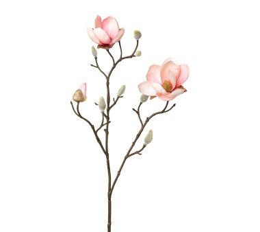 Kunstblume Magnolie, 2er Set, rosa, Höhe ca. 53 cm