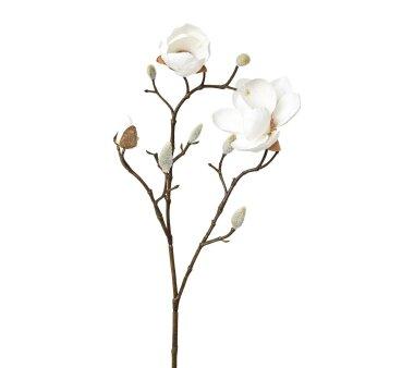 Kunstblume Magnolie, 2er Set, weiß, Höhe ca....