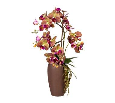 Kunstpflanze Phalaenopsis-Arrangement, grün / lila,...