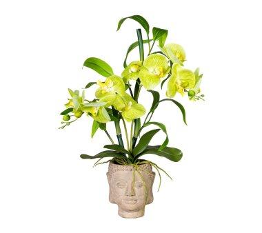 Kunstpflanze Orchideen-Bambus-Arrangement, grün,...