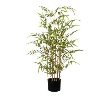 Kunstpflanze Bambus, grün, Naturstamm, inklusive...
