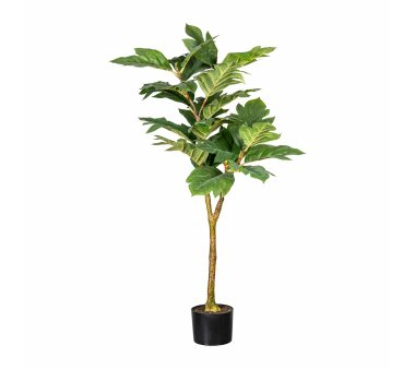 Kunstpflanze Artocarpus, grün, PU-Stamm, inklusive...