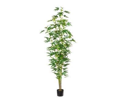 Künstliche Zierhanfpflanze, grün, inklusive...