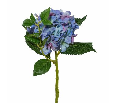 Kunstblume Hortensie, 3er Set, blau, Höhe ca. 46 cm