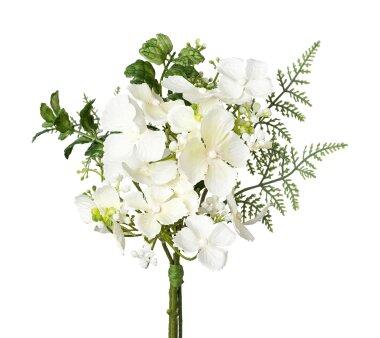Künstliches Hortensien-Bouquet, 3er Set, weiß,...